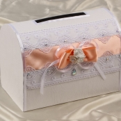 персиковый сундучок на свадьбу фото
