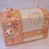 коробка свадьба персиковая фото