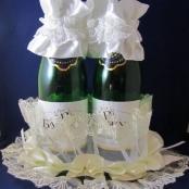 корзинка для шампанского айвори фото