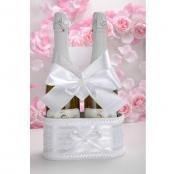 корзинка для шампанского белая фото