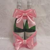 корзинка ля шампанского розовая фото