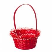 корзиночка для лепестков красная с рюшкой фото