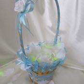 свадебные корзинки голубые фото