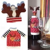 новогодние украшения на бутылки фото