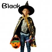 костюм волшебника черный с золотистыми звездами