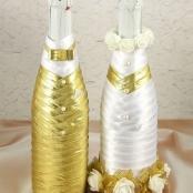 тубы для свадебного шампанского золотые фото