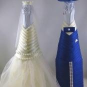 украшение на шампанское платье айвори синий фрак фото