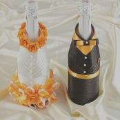 костбмы на свадебное шампанское оранжевые фото