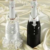 украшение шампанского костмы белые фото