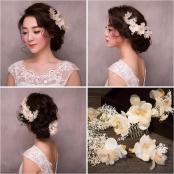 украшение для свадебной прически цветы шик