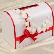 красные свадебные сундучки фото