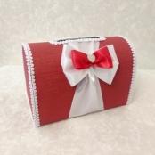 коробка для денег красная