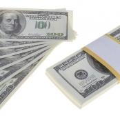 100 долларов купюры сувенирные