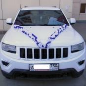 сине-белые украшения на машину фото