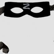 маска черная карнавальная