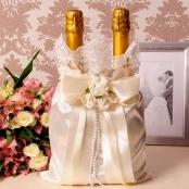 мешочек для свадебного шампанскогоа айвори фото