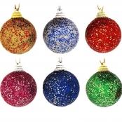 блестящие шары на елку купить