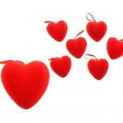 красные сердца для украшений