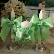 салатовые свадебные свечи свадебные очаг купить
