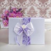 нежно-сиреневая книга пожеланий на свадьбу