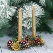 золотые новогодние свечи купить