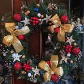 новогодний венок на дверь купить