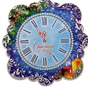 часы новогодние плакат фото