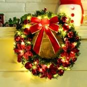 новогодний венок с лампочками фото
