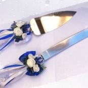 нож и лопатка синие