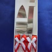 нож и лопатка для свадебного торта купить