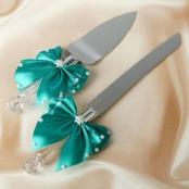 нож и лопатка для свадебного торта тиффани купить