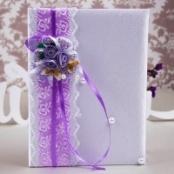 папка для свидетельства о браке сиренево фиолетовая