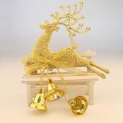 олень новогодний золотой фото