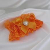 оранжевые свадебные подвязки фото