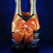 оранжевые свадебные украшения фото