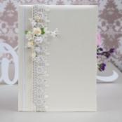 папка для свидетельства о браке  айвори цветы