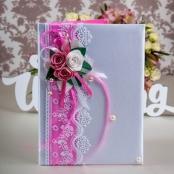 папка для свидетельства о браке розовая купить
