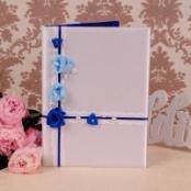 папка для свидетельства о браке синяя голубая