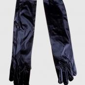 перчатки черные лаковые