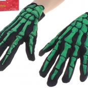 перчатки скелетон светоотражающие