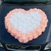 персиковое сердце на капот фото