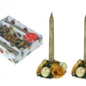 новогодние свечи с подсвечниками подарочные фото