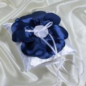 подушечка для колец синяя свадьба