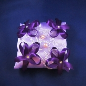 подушечка под кольца фиолетовая фото