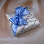 подушечка для колец голубая фото