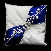 подушечка для колец синяя фото