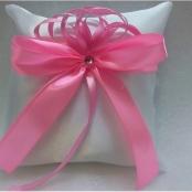 подушечка для колец розовая