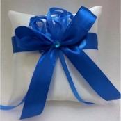 подушечка для колец с синим бантом купить