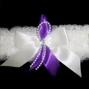 подвязка невесты с фиолетовым