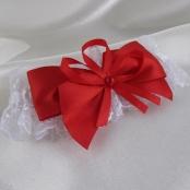 красно-белые свадебные подвязки фото
